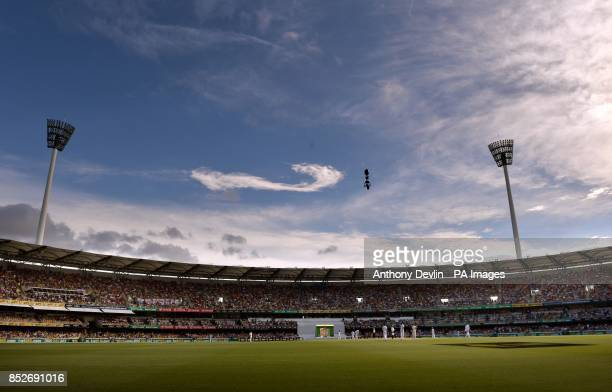 General view during day three of the first Ashes Test at The Gabba Brisbane Australia
