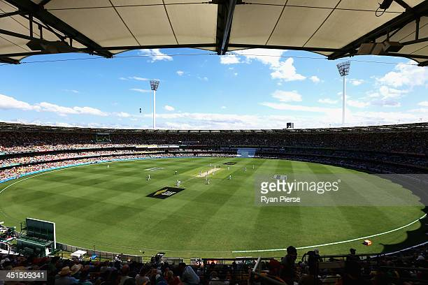 A general view during day three of the First Ashes Test match between Australia and England at The Gabba on November 23 2013 in Brisbane Australia