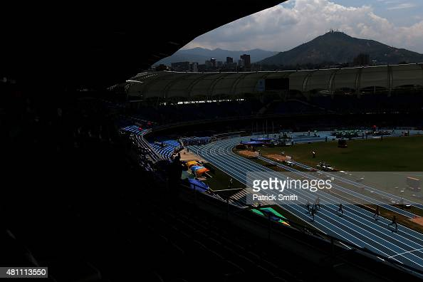 A general view during day three of the IAAF World Youth Championships Cali 2015 on July 17 2015 at the Pascual Guerrero Olympic Stadium in Cali...