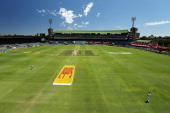 A polarising filter was used for this image A general view during day three of the Second Test match between South Africa and Australia at AXXESS St...