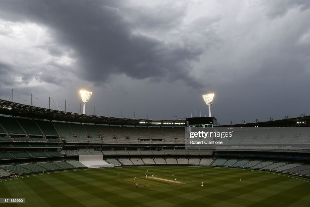 A general view during day three of the Sheffield Shield match between Victoria and Tasmania at Melbourne Cricket Ground on November 15, 2017 in Melbourne, Australia.