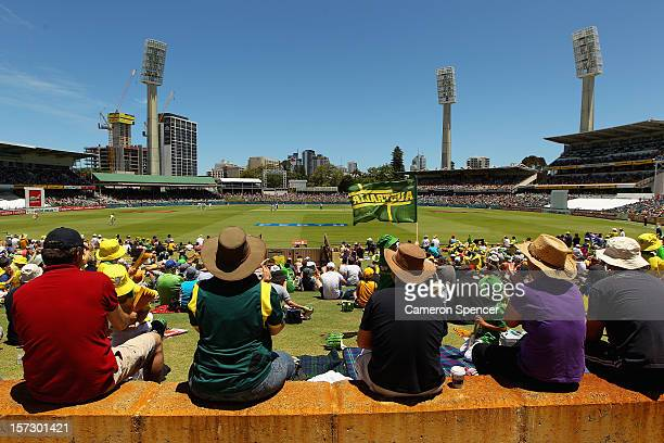 A general view during day three of the Third Test Match between Australia and South Africa at the WACA on December 2 2012 in Perth Australia