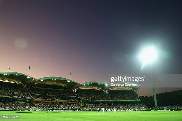 A general view during day three of the Third Test match between Australia and New Zealand at Adelaide Oval on November 29 2015 in Adelaide Australia