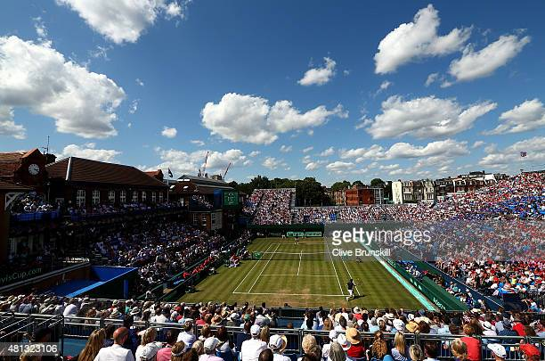A general view during Day Three of The World Group Quarter Final Davis Cup match between Great Britain and France at Queens Club on July 19 2015 in...