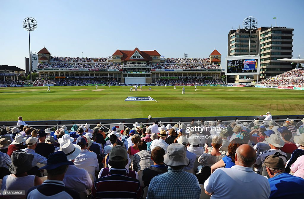 A general view during day two of the 1st Investec Ashes Test match between England and Australia at Trent Bridge Cricket Ground on July 11, 2013 in Nottingham, England.