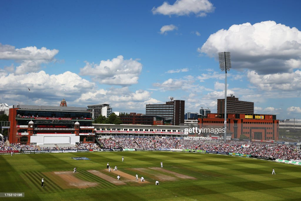 A general view during day two of the 3rd Investec Ashes Test match between England and Australia at Emirates Old Trafford Cricket Ground on August 2, 2013 in Manchester, England.