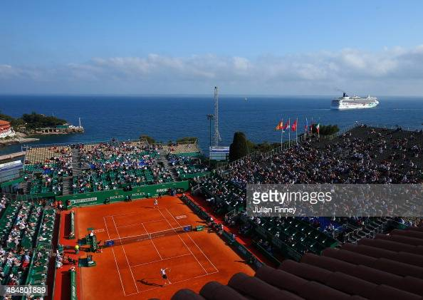 A general view during day two of the ATP Monte Carlo Rolex Masters Tennis at MonteCarlo Sporting Club on April 14 2014 in MonteCarlo Monaco