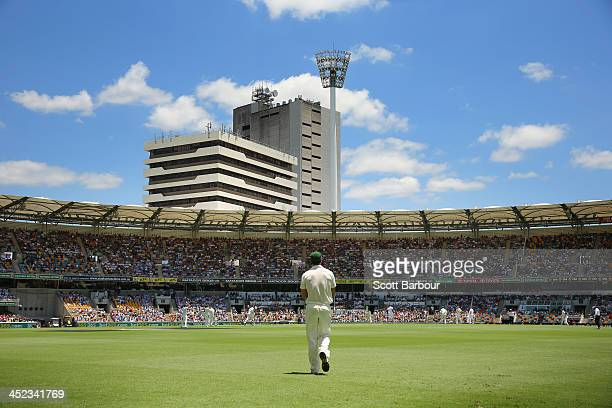 A general view during day two of the First Ashes Test match between Australia and England at The Gabba on November 22 2013 in Brisbane Australia