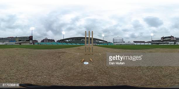 A general view during day two of the preseason friendly between Surrey and Middlesex at The Kia Oval on March 23 2016 in London England