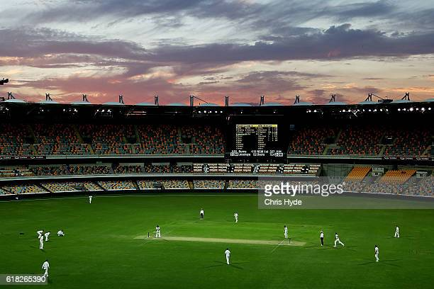 General view during day two of the Sheffield Shield match between Queensland and New South Wales at The Gabba on October 26 2016 in Brisbane Australia