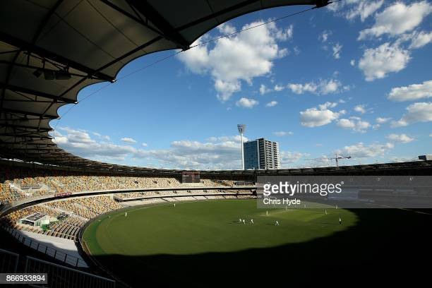 General view during day two of the Sheffield Shield match between Queensland and Victoria at the Gabba on October 27 2017 in Brisbane Australia