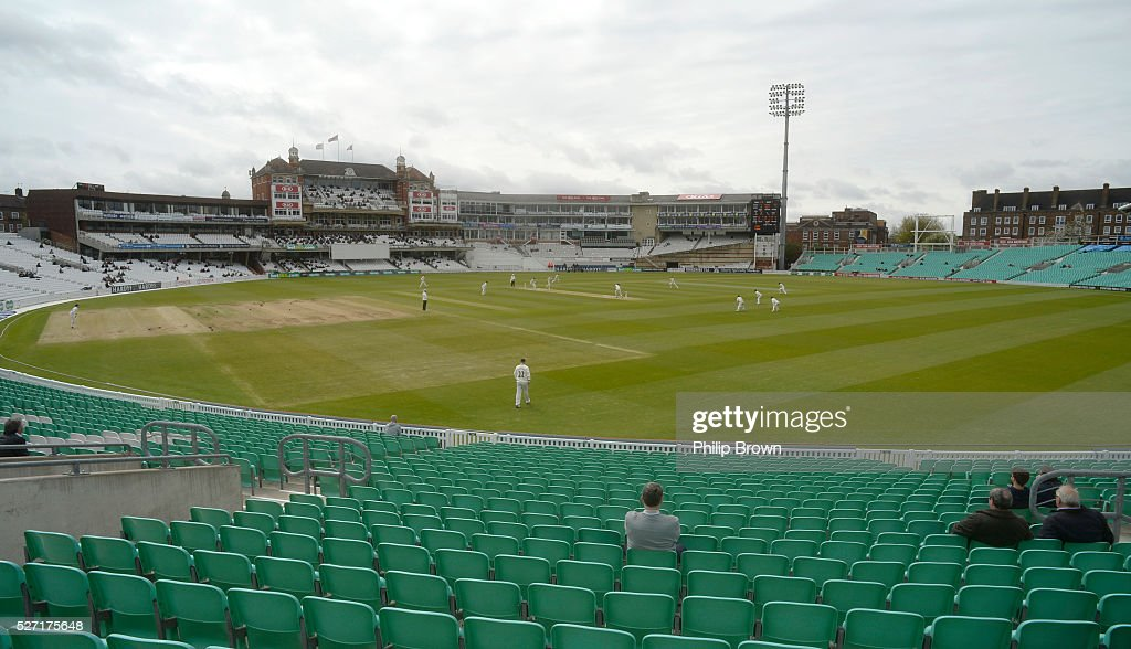 A general view during day two of the Specsavers County Championship Division One match between Surrey and Durham at the Kia Oval on May 2, 2016 in London, England.