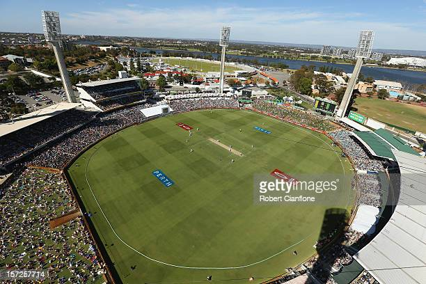 A general view during day two of the Third Test Match between Australia and South Africa at WACA on December 1 2012 in Perth Australia