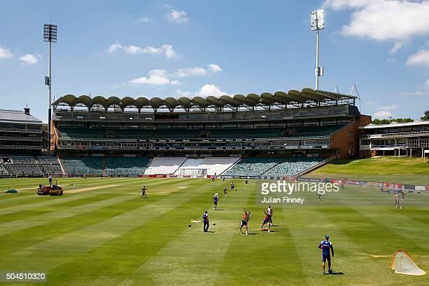 A general view during England media access at the Wanderers Stadium on January 11 2016 in Johannesburg South Africa