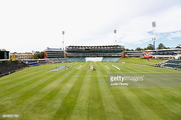A general view during England media access at the Wanderers Stadium on January 12 2016 in Johannesburg South Africa