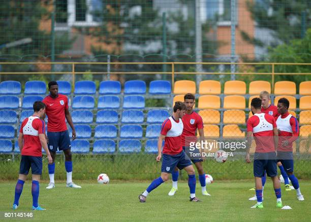 A general view during England training session on the eve of their UEFA European Under21 Championship Semifinal against Germany on June 26 2017 in...
