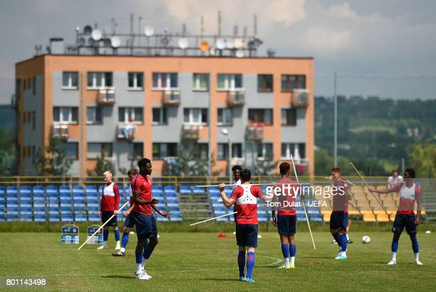 A general view during England U21 training session on the eve of their UEFA European Under21 Championship Semifinal against Germany on June 26 2017...