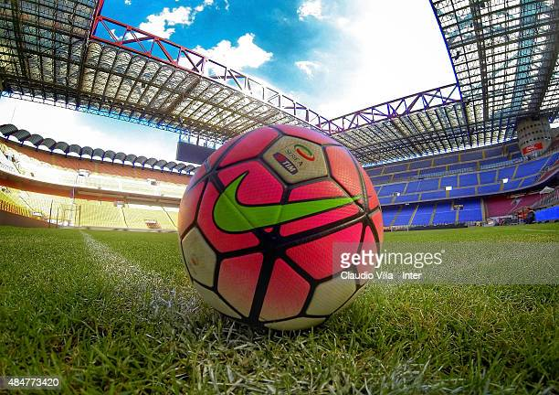 A general view during FC Internazionale training session at Stadio Giuseppe Meazza on August 21 2015 in Milano Italy