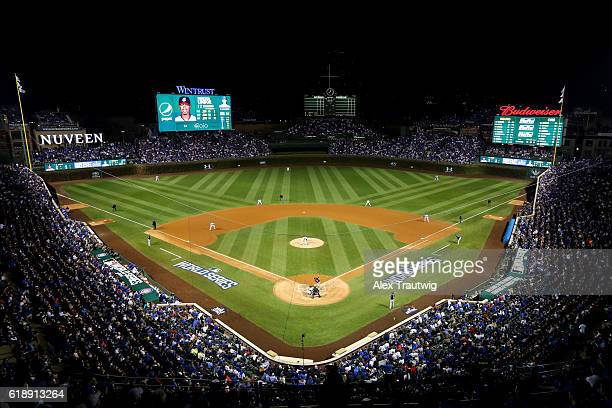 A general view during Game 3 of the 2016 World Series between the Cleveland Indians and the Chicago Cubs at Wrigley Field on Friday October 28 2016...