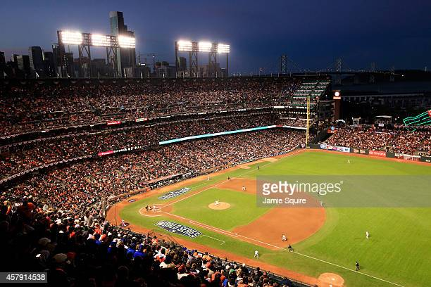 A general view during Game Five of the 2014 World Series between the San Francisco Giants and the Kansas City Royals at ATT Park on October 26 2014...