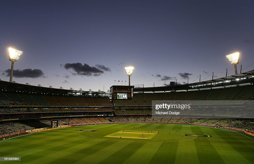 A general view during game five of the Commonwealth Bank International Series between Australia and the West Indies at Melbourne Cricket Ground on February 10, 2013 in Melbourne, Australia.