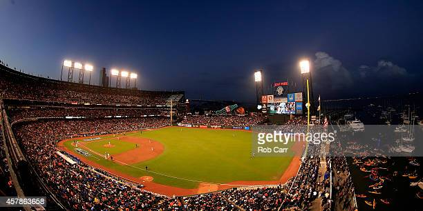 A general view during Game Four of the 2014 World Series between the San Francisco Giants and the Kansas City Royals at ATT Park on October 25 2014...
