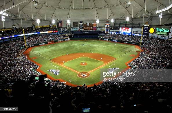 A general view during game one of the 2008 MLB World Series between the Philadelphia Phillies and the Tampa Bay Rays on October 22 2008 at Tropicana...