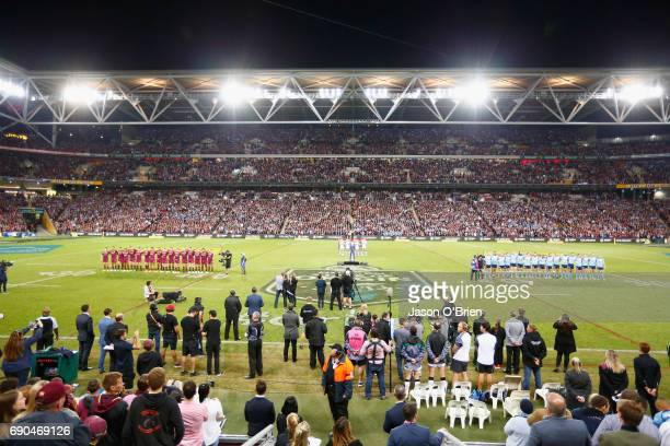 General view during game one of the State Of Origin series between the Queensland Maroons and the New South Wales Blues at Suncorp Stadium on May 31...