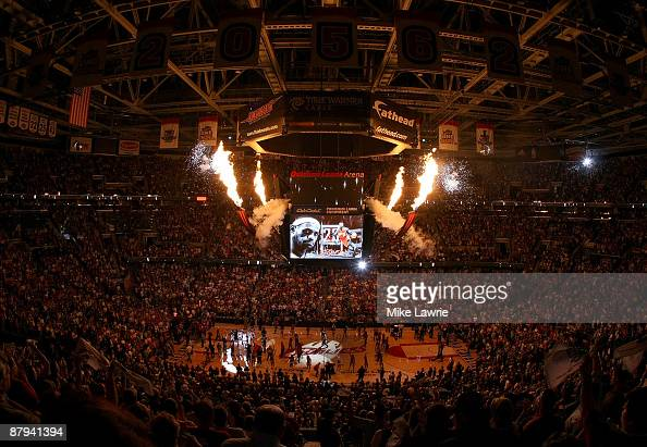 A general view during Game Two of the Eastern Conference Finals between the Cleveland Cavaliers and the Orlando Magic during the 2009 Playoffs at...