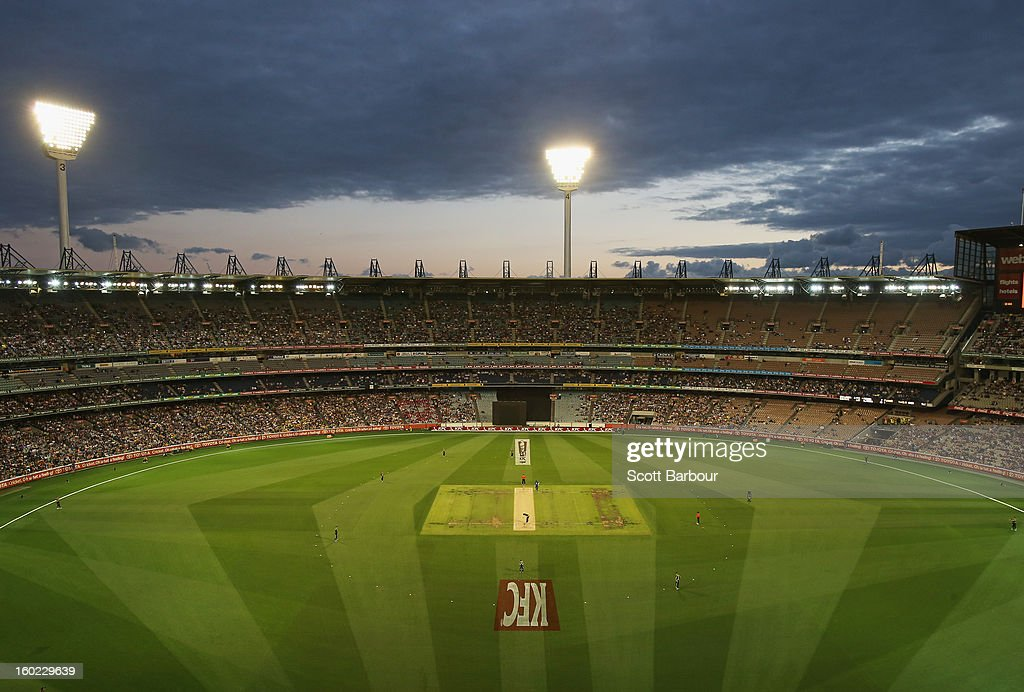 A general view during game two of the Twenty20 International series between Australia and Sri Lanka at the Melbourne Cricket Ground on January 28, 2013 in Melbourne, Australia.
