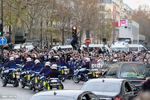 A general view during Johnny Hallydays funerals at Eglise de la Madeleine