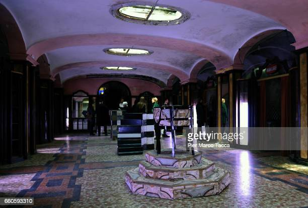 A general view during Miart 2017 'Senso 80' Exhibition of Flavio Favelli at Albergo Diurno in Milan on March 29 2017 in Milan Italy