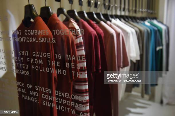 A general view during Paolo Pecora SS18 Collection Presentation during 92 Pitti Immagine Uomo on June 14 2017 in Florence Italy