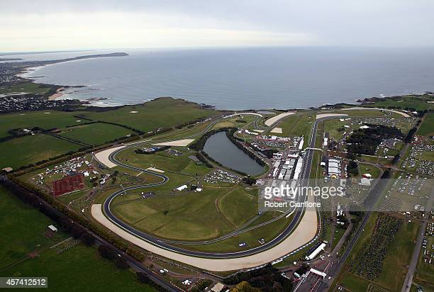 A general view during qualifying for the 2014 MotoGP of Australia at Phillip Island Grand Prix Circuit on October 18 2014 in Phillip Island Australia