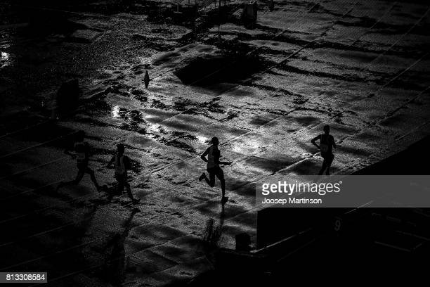 A general view during rain delay on day 1 of the IAAF U18 World Championships at Moi International Sports Centre Kasarani Arena on July 12 2017 in...