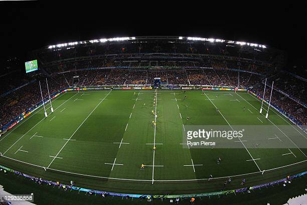 A general view during semi final two of the 2011 IRB Rugby World Cup between New Zealand and Australia at Eden Park on October 16 2011 in Auckland...
