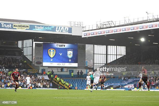 General view during Sky Bet Championship match between Leeds United and Huddersfield Town at Elland Road Stadium on September 20 2014 in Leeds United...