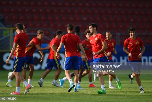 A general view during Spain training session on June 26 2017 in Krakow Poland