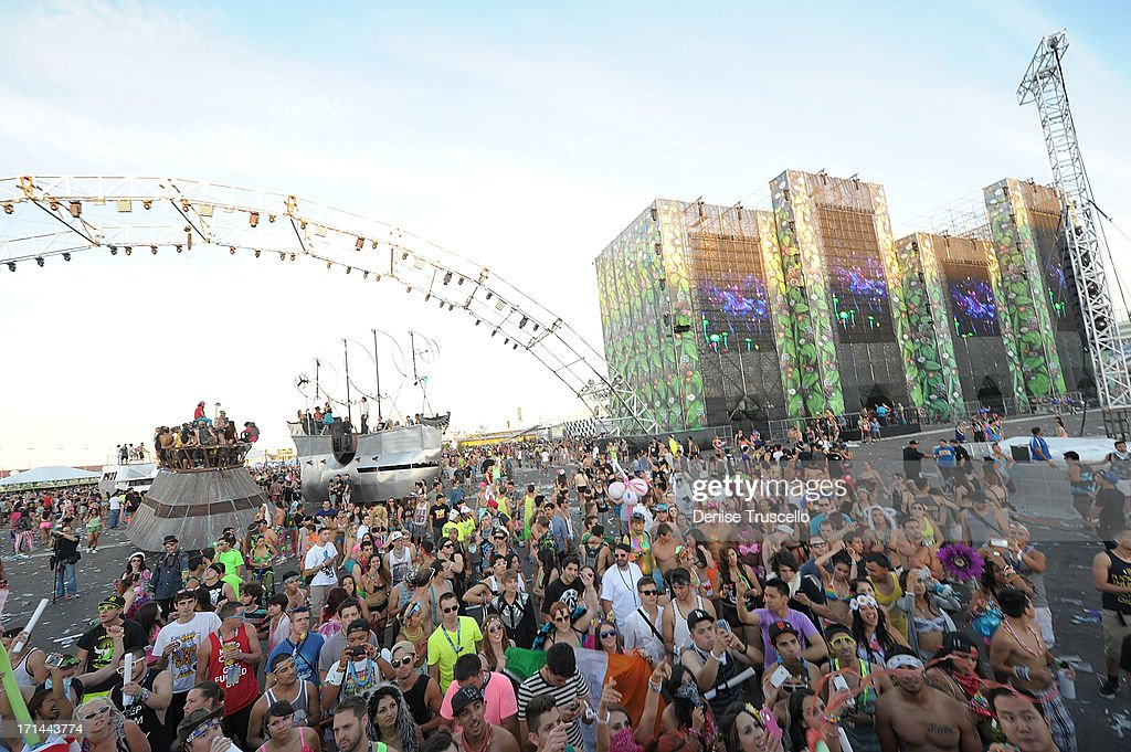A general view during the 17th annual Electric Daisy Carnival at Las Vegas Motor Speedway on June 23, 2013 in Las Vegas, Nevada.