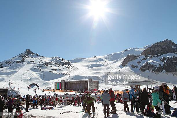A general view during the 17th 'SterneCup der Koeche' skiing competition for awardwinning chefs at Idalp on April 7 2014 in Ischgl Austria