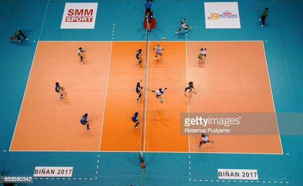 General view during the 19th Asian Senior Women's Volleyball Championship 2017 Final match between Thailand and Japan at Alonte Sports Arena Binan...