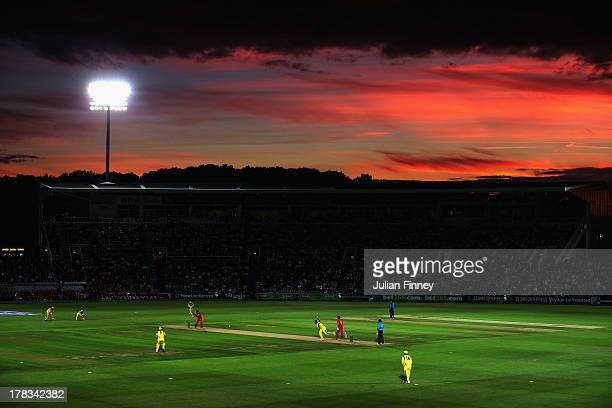 A general view during the 1st NatWest Series T20 match between England and Australia at Ageas Bowl on August 29 2013 in Southampton England