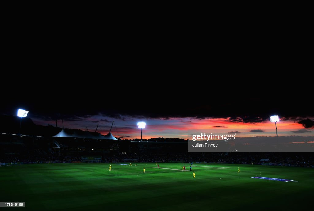 A general view during the 1st NatWest Series T20 match between England and Australia at Ageas Bowl on August 29, 2013 in Southampton, England.