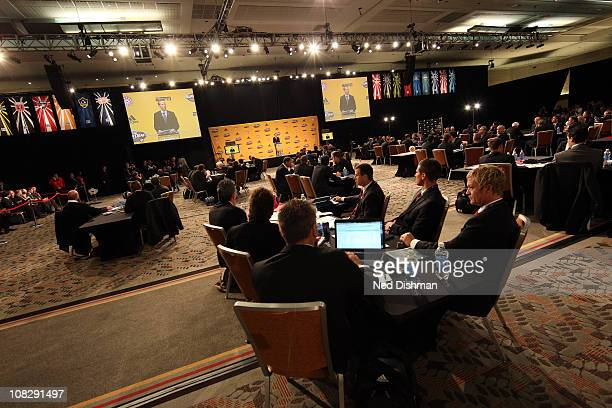 A general view during the 2011 MLS SuperDraft on January 13 2011 at the Baltimore Convention Center in Baltimore Maryland