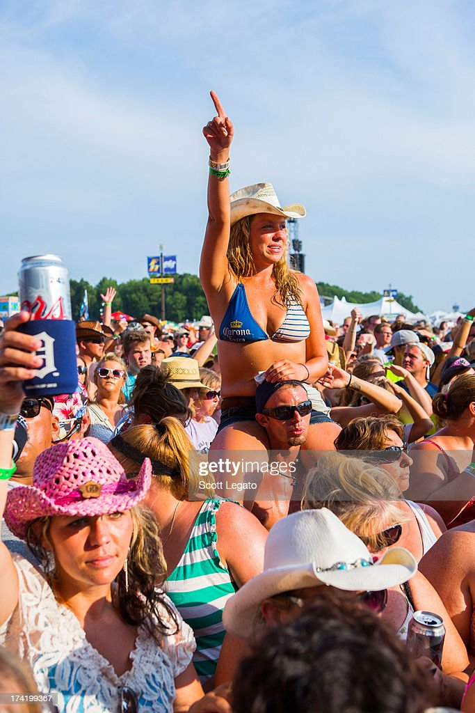 General view during the 2013 Faster Horses Festival on July 21, 2013 in Brooklyn, Michigan.