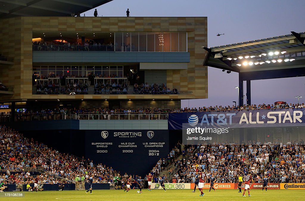 A general view during the 2013 Major League Soccer All Star Game between the MLS All-Stars and AS Roma at Sporting Park on July 31, 2013 in Kansas City, Kansas.
