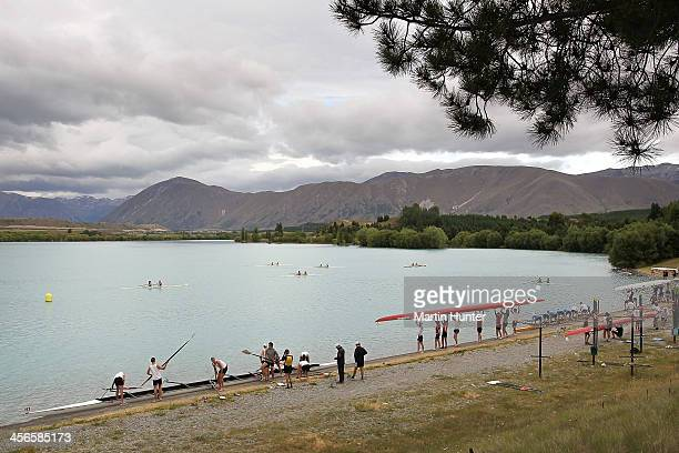 General view during the 2013 Meridian Otago Championships at Lake Ruataniwha on December 15 2013 in Central Otago New Zealand