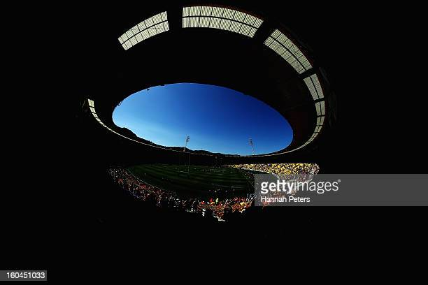 A general view during the 2013 Wellington Sevens at Westpac Stadium on February 1 2013 in Wellington New Zealand