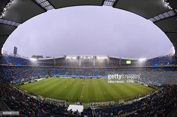 A general view during the 2014 FIFA World Cup Brazil Group A match between Mexico and Cameroon at Estadio das Dunas on June 13 2014 in Natal Brazil