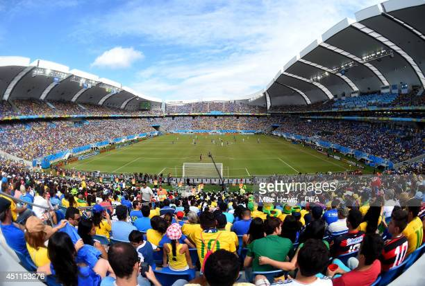 General view during the 2014 FIFA World Cup Brazil Group D match between Italy and Uruguay at Estadio das Dunas on June 24 2014 in Natal Brazil